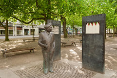Bronze sculpture by Wilhelm Kaisen, Bremen, Germany Stock Photos