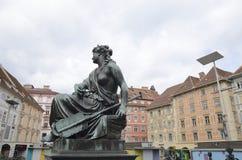 Bronze sculpture of woman Stock Photo