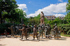 The bronze sculptures of the Night Watch Royalty Free Stock Photography