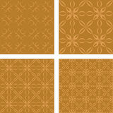 Bronze seamless wallpaper set Royalty Free Stock Photography