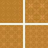 Bronze seamless wallpaper set. Bronze color seamless pattern wallpaper set Royalty Free Stock Photography