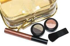Bronze set for make-up. Beautician and bronze set for make-up Royalty Free Stock Image