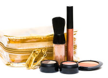 Bronze set for make-up Stock Image