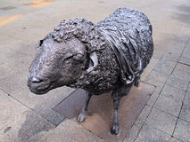 Bronze Sheep Statue Stock Photo