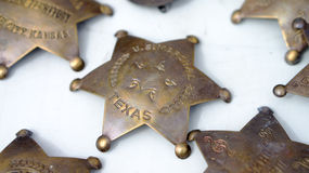 Bronze sheriff badges Royalty Free Stock Photography