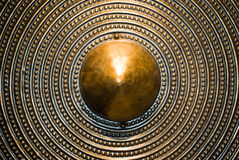 Bronze shield background Royalty Free Stock Photos