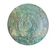 Bronze shield in Delphi museum, Greece Stock Image