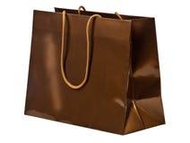 Bronze shopping bag. Royalty Free Stock Image