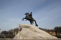 bronze skicklig ryttare Royaltyfri Fotografi