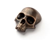Bronze skull model Stock Photos