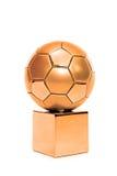 Bronze soccer cup Stock Photos