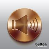 Bronze speaker button Stock Photography