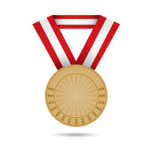 Bronze sport medal Royalty Free Stock Photos