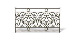 bronze staket Royaltyfri Fotografi
