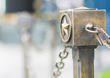 Bronze star near the monument of eternal fire in Moscow Stock Photography