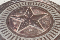 Bronze star with patina Royalty Free Stock Image