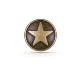 Bronze star symbol Royalty Free Stock Image
