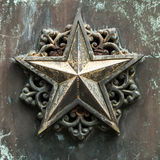 Bronze star. A vintage type bronze star Stock Photography