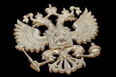 Bronze State Emblem Of Russia Stock Images