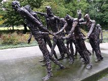 Bronze Stateus in amsterdam holland calles abolition of slavery in Suriname royalty free stock photos