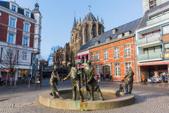 Bronze statue in Aachen, Germany Royalty Free Stock Photos