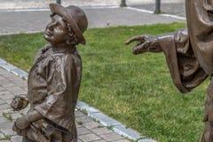 Bronze statue in Alba Iulia,Romania Royalty Free Stock Images