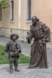 Bronze statue in Alba Iulia,Romania Stock Photo