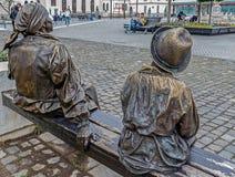 Bronze statue in Alba Iulia,Romania Royalty Free Stock Photo
