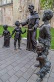 Bronze statue in Alba Iulia,Romania Stock Images