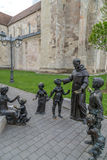 Bronze statue in Alba Iulia,Romania Stock Photography