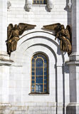Bronze statue of angels from the cathedral of Christ the savior in Moscow. Stock Photo