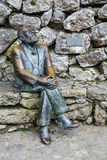 Bronze statue of Antonio Gaudi in Comillas, Cantabria, Spain Stock Photo