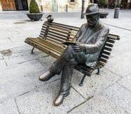 Bronze statue of Antonio Gaudi Stock Images