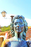 Bronze statue of Ava Gardner in Tossa de Mar, Spain Royalty Free Stock Photo