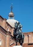 Bronze statue of Bartolomeo Colleoni in Venice, Italy Stock Images