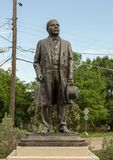 Bronze statue of Benito Juarez in the Benito Juarez Parque de Heroes, a Dallas City Park in Dallas, Texas stock photo