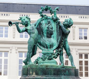 Bronze Statue in Brussels Royalty Free Stock Photo