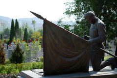 Bronze statue in The cemetery. Locate at lushun, China Royalty Free Stock Photography