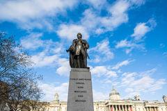 Bronze statue of Charles James Napier. Statue of General Sir Charles James Napier in Trafalgar Square Stock Photo