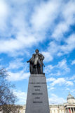Bronze statue of Charles James Napier. Statue of General Sir Charles James Napier in Trafalgar Square Royalty Free Stock Photo