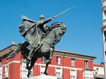 Statue of Rodrigo Diaz de Vivar, El Cid, in Burgos. royalty free stock images