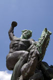 Bronze statue at Citadel Fortress, Gellert Hill, Budapest, Hunga Stock Photo