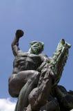 Bronze statue at Citadel Fortress, Gellert Hill, Budapest, Hunga Stock Photo