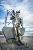 Bronze Statue of a Coal Miner Royalty Free Stock Images