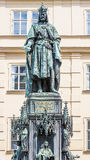 Bronze Statue Of Czech King Charles Iv In Prague, Czech Republic Royalty Free Stock Photography