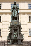 Bronze Statue Of Czech King Charles Iv In Prague Royalty Free Stock Images