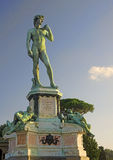 Bronze statue of David at Piazzale Michelangelo in Florence Royalty Free Stock Images