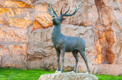 Bronze statue of a deer Royalty Free Stock Images