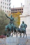 Don Quixote and Sancho Panza Stock Photo