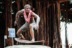 A Bronze statue of Duke Kahanamoku Royalty Free Stock Images